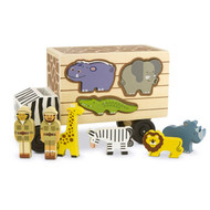 Melissa & Doug Wooden Animal Rescue Shape Sorting Truck