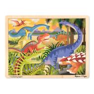 Melissa & Doug Wooden 24 Piece Puzzle & Tray - Dinosaurs