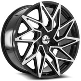 "22"" INCH AZARA AZA 511 BLACK AND MACHINE WHEELS AND TIRES 6X5.5 FITS 6 LUG AVALANCHE  ESCALADE SUBURBAN SIERRA SILVERADO TAHOE YUKON"