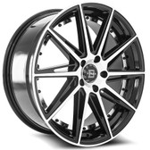 """22"""" INCH BLADE BRT-458 BLACK AND MACHINE WHEELS AND TIRES FITS REAR WHEEL DRIVE CHARGER MAGNUM CHALLENGER CHRYSLER 300 5X115 CROWN VICTORIA EXPLORER TOWN CAR GRAND MARQUIS"""