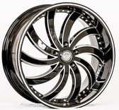 "22"" INCH GIMA 4 IN FLAMES BLACK AND MACHINE WHEELS AND TIRES FITS REAR WHEEL DRIVE CHARGER MAGNUM CHALLENGER CHRYSLER 300 5X115 CROWN VICTORIA EXPLORER TOWN CAR GRAND MARQUIS"