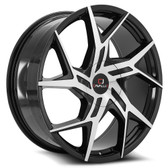 "22"" INCH CAVALLO CLV-26 BLACK AND MACHINE WHEELS AND TIRES FITS 5 LUG ACCORD LEXUS CAMRY ALTIMA MAXIMA HIGH OFFSET MONTE CARLO IMPALA 5X4.5 5X114.3"