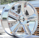 "24"" INCH STW 278 LTZ REPLICA CHROME WHEELS AND TIRES 6X5.5 FITS 6 LUG AVALANCHE  ESCALADE SUBURBAN SIERRA SILVERADO TAHOE YUKON"
