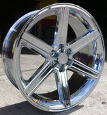 "24"" INCH IROC CHROME WHEELS AND TIRES 6X5.5 FITS 6 LUG AVALANCHE  ESCALADE SUBURBAN SIERRA SILVERADO TAHOE YUKON"