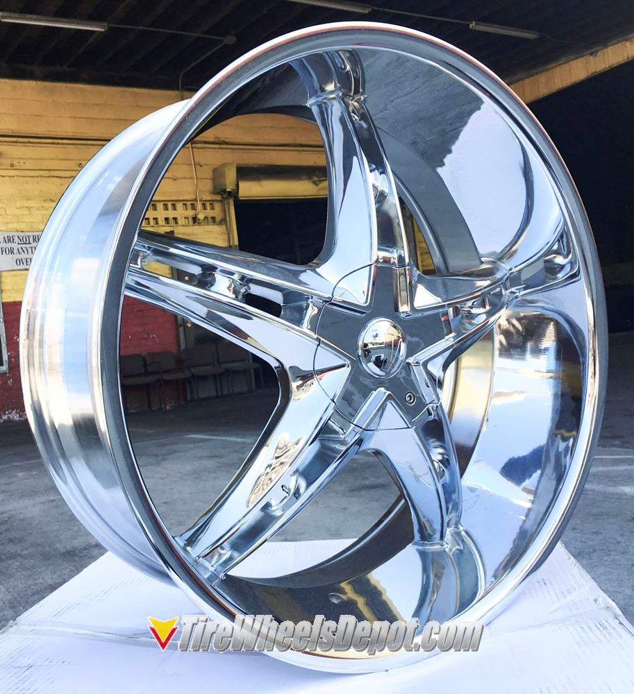 24 Inch Velocity 930 V930 Chrome Wheels And Tires Fits Rear Wheel Drive Charger Magnum Challenger Chrysler 300 5x115 Crown Victoria Explorer Town Car Grand Marquis Tire Wheels Depot