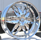 "24"" INCH MASSA 45  CHROME WHEELS AND TIRES FITS 5X120 CAMARO IMPALA MONTE CARLO CUTLASS EL CAMINO  BMW CHEVELLE NOVA"