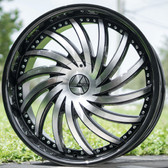 """32"""" INCH AZARA AZA-508 BLACK AND MACHINE WHEELS AND TIRES FITS REAR WHEEL DRIVE CHARGER MAGNUM CHALLENGER CHRYSLER 300 5X115 CROWN VICTORIA EXPLORER TOWN CAR GRAND MARQUIS"""