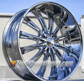 "26"" INCH BORGHINI 15 CHROME WHEELS WITH TIRES FITS 5X139.7 OR 5X5.5  RAM DURANGO DAKOTA BRONCO 96 F150"