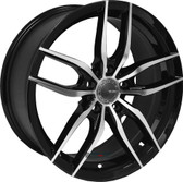 """20"""" INCH  VELSEN 533 BLACK AND MACHINE WHEELS AND TIRES FITS 5 LUG ACCORD LEXUS CAMRY ALTIMA MAXIMA HIGH OFFSET MONTE CARLO IMPALA 5X4.5 5X114.3"""