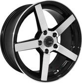 "20"" INCH  VELSEN 463 BLACK AND MACHINE WHEELS AND TIRES FITS 5 LUG ACCORD LEXUS CAMRY ALTIMA MAXIMA HIGH OFFSET MONTE CARLO IMPALA 5X4.5 5X114.3"
