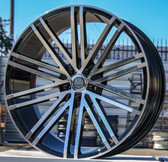 "20"" INCH U236 BLACK AND MACHINE WHEELS AND TIRES FITS 5 LUG ACCORD LEXUS CAMRY ALTIMA MAXIMA HIGH OFFSET MONTE CARLO IMPALA 5X4.5 5X114.3"