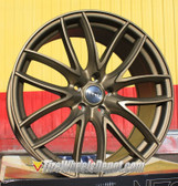 "20"" INCH NEOZ 5015 BRONZE WHEELS AND TIRES FITS 5 LUG ACCORD LEXUS CAMRY ALTIMA MAXIMA HIGH OFFSET MONTE CARLO IMPALA 5X4.5 5X114.3"