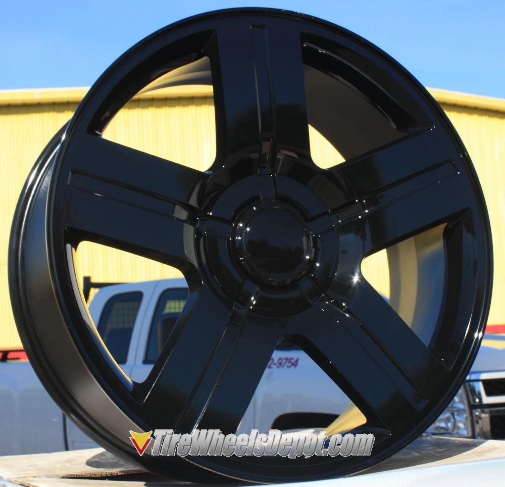 20 Inch Stw 258 Gloss Black Wheels And Tires 6x5 5 Fits 6 Lug Avalanche Escalade Suburban Sierra Silverado Tahoe Yukon