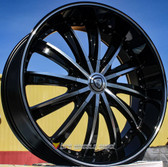 "22"" INCH BORGHINI 19 BLACK AND MACHINE WHEELS AND TIRES FITS 5 LUG MKX ACCORD LEXUS CAMRY ALTIMA MAXIMA HIGH OFFSET MONTE CARLO IMPALA 5X4.5 5X114.3"