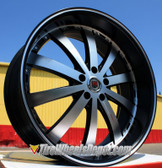 1 - 20X8.5 RED SPORT 77 RSW 77  B+MO FINISH ONE WHEEL FITS 5 LUG  5X114.3