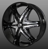 24 INCH ELITE BLK RIMS AND TIRES RANGEROVER TOWN CAR MAGNUM CHALLENGER 300