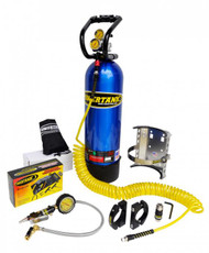CO2 Tank 15 LB Power Tank Package C 250 PSI Candy Blue Power Tank