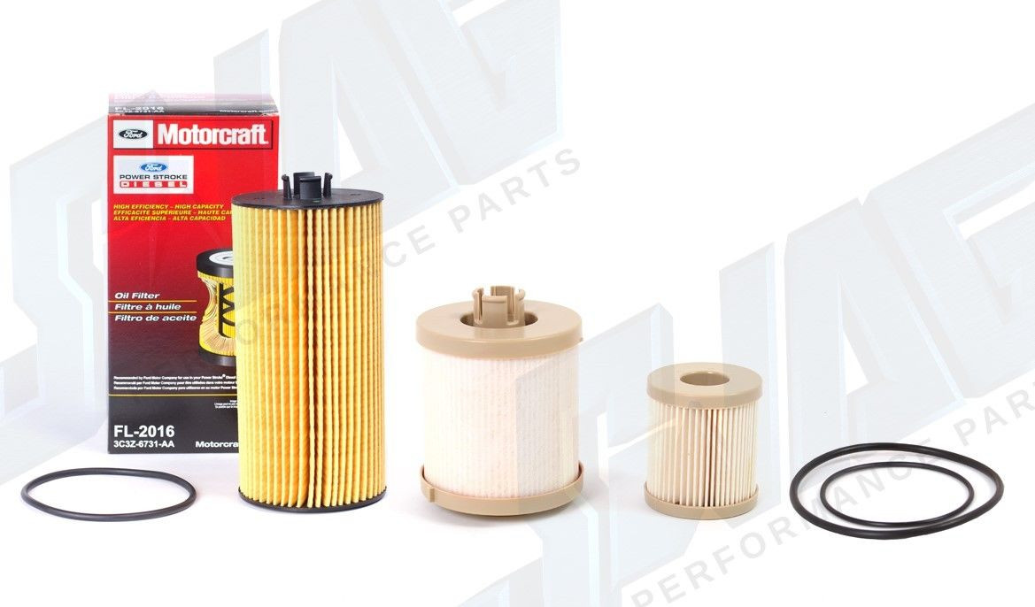 FD4616 03-07 FORD 6.0L POWERSTROKE OEM MOTORCRAFT OIL /& FUEL FILTER KIT FL2016