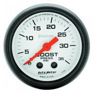 Auto Meter Phantom Series Boost Gauge 5704 0-35 Psi