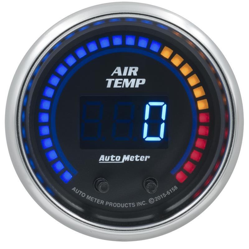 Auto Meter 6158 Cobalt Series Dual Channel Air Temp Gauge 100-300 F