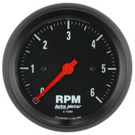 "Auto Meter 2695 Z-series 3-3/8"" In-dash Tachometer 0-6,000 Rpm"