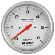 """Auto Meter 4476 Ultra-lite 5"""" In-dash Tachometer 0-6,000 Rpm"""