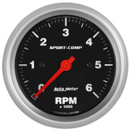 "Auto Meter 3996 Sport-comp 3-3/8"" In-dash Tachometer 0-6,000 Rpm"