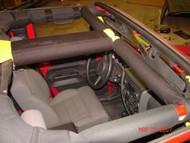 ROCKHARD4X4 Padding Kit for Overhead T-Section for Jeep Wrangler JK 2/4DR 2007 - 2018