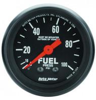 Auto Meter 2612 Z-series Fuel Pressure Gauge 0-100 Psi