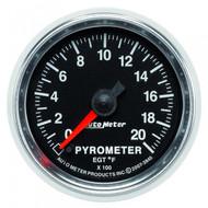 Auto Meter 3845 Gs Series Pyrometer Gauge 0-2000 F