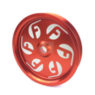 Fleece Performance For Cummins Dual Pump Pulley For use with FPE Dual Pump Bracket Red
