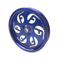 Fleece Performance For Cummins Dual Pump Pulley use with FPE Dual Pump Bracket Blue