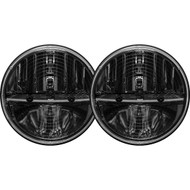 Rigid Industries 7 Inch Round Heated Headlight With Pwm Adaptor Pair