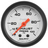 Autometer Phantom Series Exhaust Pressure Gauge 0-100 Psi 5726