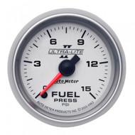 Autometer Ultra-lite Ii Fuel Pressure Gauge0-15 Psi 4961