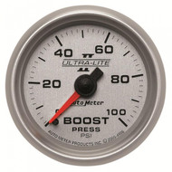 Autometer Ultra-lite Ii Boost Gauge 0-100 Psi 4906
