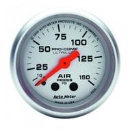 Autometer Ultra-lite Air Pressure Gauge 0-150 Psi 4320