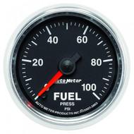 Autometer Gs Series Fuel Pressure Gauge 0-100 Psi 3863