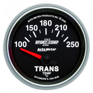 Autometer Sport-comp Ii Transmission Temperature Gauge 100-250 F 3649