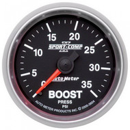 Autometer Sport-comp Ii Boost Gauge 0-35 Psi 3604