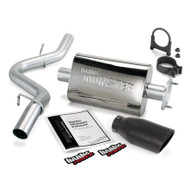 BANKS POWER For 00-03 Jeep 2.5/4.0l Wrangler -Monster Exhaust System S/S-Black Tip 51313-B