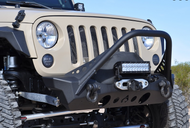 ARTEC Nighthawk JK Front Bumper with Mid Tube Stinger
