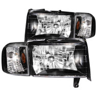 ANZO Crystal (black) Headlights For 1994-2002 Dodge Ram 2500/3500* 111067