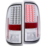 ANZO Chrome Led Taillights For 2008-2016 Ford Super Duty 311128