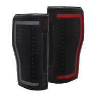 ANZO Led Taillights For 2017+ Ford F-250 -Black/Smoke 311288