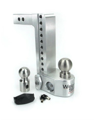 Weigh Safe 10in. Drop 2in. Shank Adjustable Ball Mount With Scale WS10-2