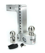 Weigh Safe 10in. Drop 2.5in. Shank Adjustable Ball Mount With Scale WS10-2.5