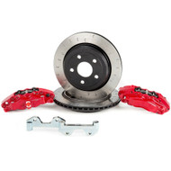Alcon Rotors 4-Piston Red Calipers Rear Brake Kit* For 2007+ Jeep JK-JL BKR5059D12