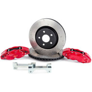 Alcon Rotors 6-Piston Red Calipers Front Brake Upgrade Kit For 2018+ Jeep JL BKF1551K06