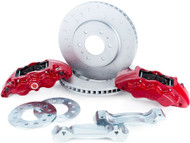 Alcon Rotors 4-Piston Red Calipers Rear Brake Upgrade Kit For 2010+ Ford F-150 BKR5059D07